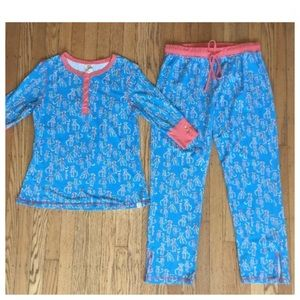 Munki munki Sock Monkey Pajama Set Size Large